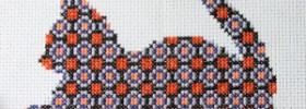 free halloween kitty cross stitch pattern