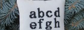 i love you alphabet ornament