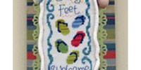 sandy feet on the beach free flip flops cross stitch pattern