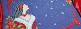Magic Wishes free Christmas holiday cross stitch pattern from Cross Stitching Art