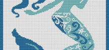 Free Mermaid Cross Stitch Pattern from Alita Designs