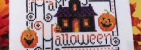 happy halloween free cross stitch pattern by Kit & Bixby